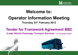 Operator Information Meeting Presentation 23.02.2012