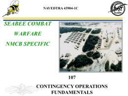 PPT: NMCB 107 Contingency Operations 1