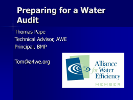 Audits and Green Codes - Great Lakes Water Conservation