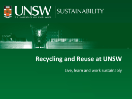 Recycling and Re-use at UNSW