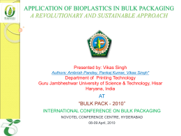 application of bioplastics in bulk packaging
