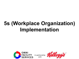 5s (Workplace Organization)