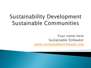 SustainabilityPPTbas.. - Sustainable Stillwater