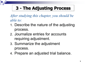 The Adjusting Process