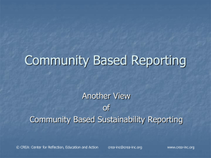 Community Based Reporting PPT
