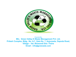 Downloads - Green Valley E-Waste Management Pvt. Ltd.
