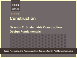 Module 6 Session 2 - Green Recovery & Reconstruction