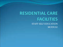 Residential Staff Education Powerpoint
