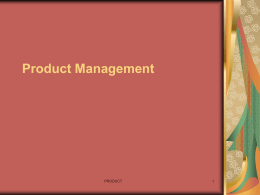 Marketing mix and product management.