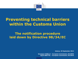 What is Directive 98/34/EC?