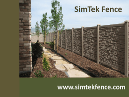 Step 1 - SimTek Fence
