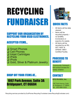 Recycling Fundraising