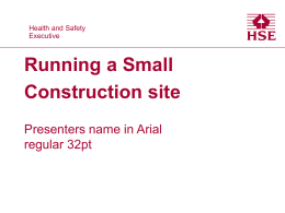 Running a small construction site presentation