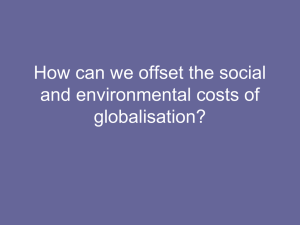 Environmental Consequences of Globalisation