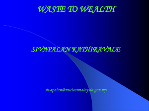 Waste to Wealth by Dr Sivapalan Kathiravale