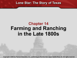 Railroads, Ranches, and Farms