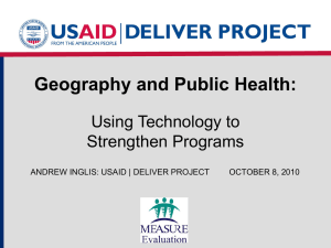 Geography and Public Health: Using technology