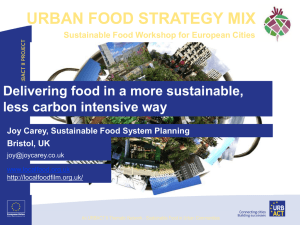 PPT-Delivering in a more sustainable less carbon intensive way