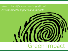 Identify your environmental aspects & impacts presentation