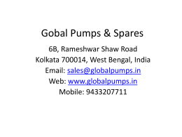 Presentation - Global Pumps & Spares