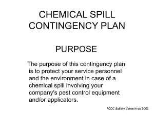 CHEMICAL SPILL CONTINGENCY PLAN