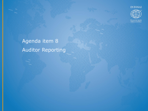 Auditor Reporting ppt