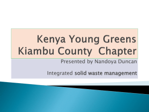 Solid waste management presentation
