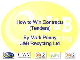 How to Win Contracts (Tenders)