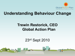 Understanding Behaviour Change presentation