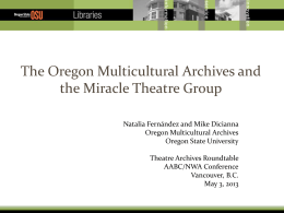 Oregon Multicultural Archives
