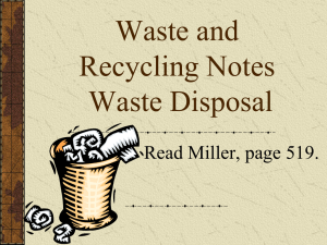 Waste and Recycling Notes - Cleveland Charter High School