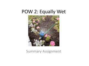 POW 2: Equally Wet - Littleton High School