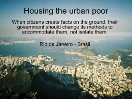 Urban Housing the poor ROCINHA
