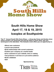 the 2015 South Hills Home Show Overview