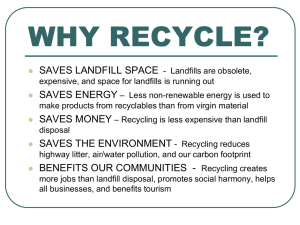 Why Recycle (2) - Ravalli County Recycling
