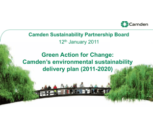 Camden`s environmental sustainability delivery plan
