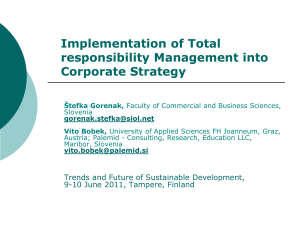Implementation of Total Responsibility Management into Corporate