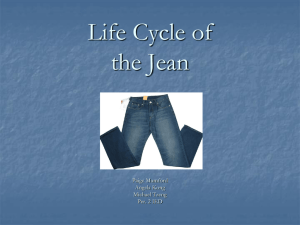 Life Cycle of the Jean - Northgate Engineering