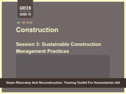 Module 6 Session 3 - Green Recovery & Reconstruction