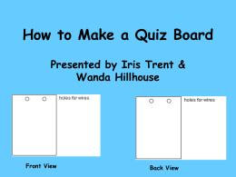 How to Make a Quiz Board