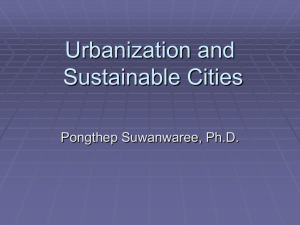 Urbanization and Sustainable Cities