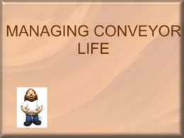 save-MANAGING CONVEYOR LIFE SAND