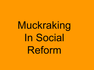 Social Reforms/Muckraking Power Point