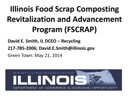 Illinois DCEO`s Food Scrap Composting Grant (FSCRAP)