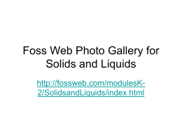 Foss Web Photo Gallery for Solids and Liquids