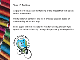 Sustainable Textiles - Sunderland Learning Hub