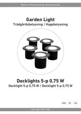 Garden Light Decklights 5-p 0,75 W