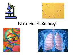 National 4 Biology Course Intro