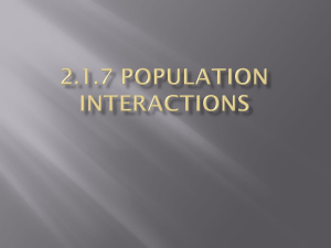 2.1.7 Population Interactions