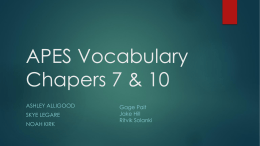 Vocab 7 and 8